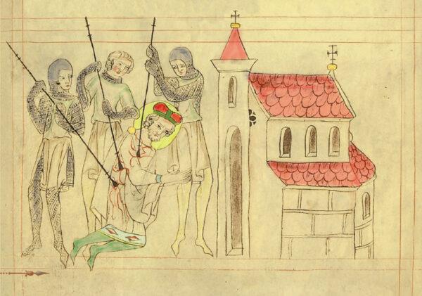 Zavraždění svatého Václava – ilustrace