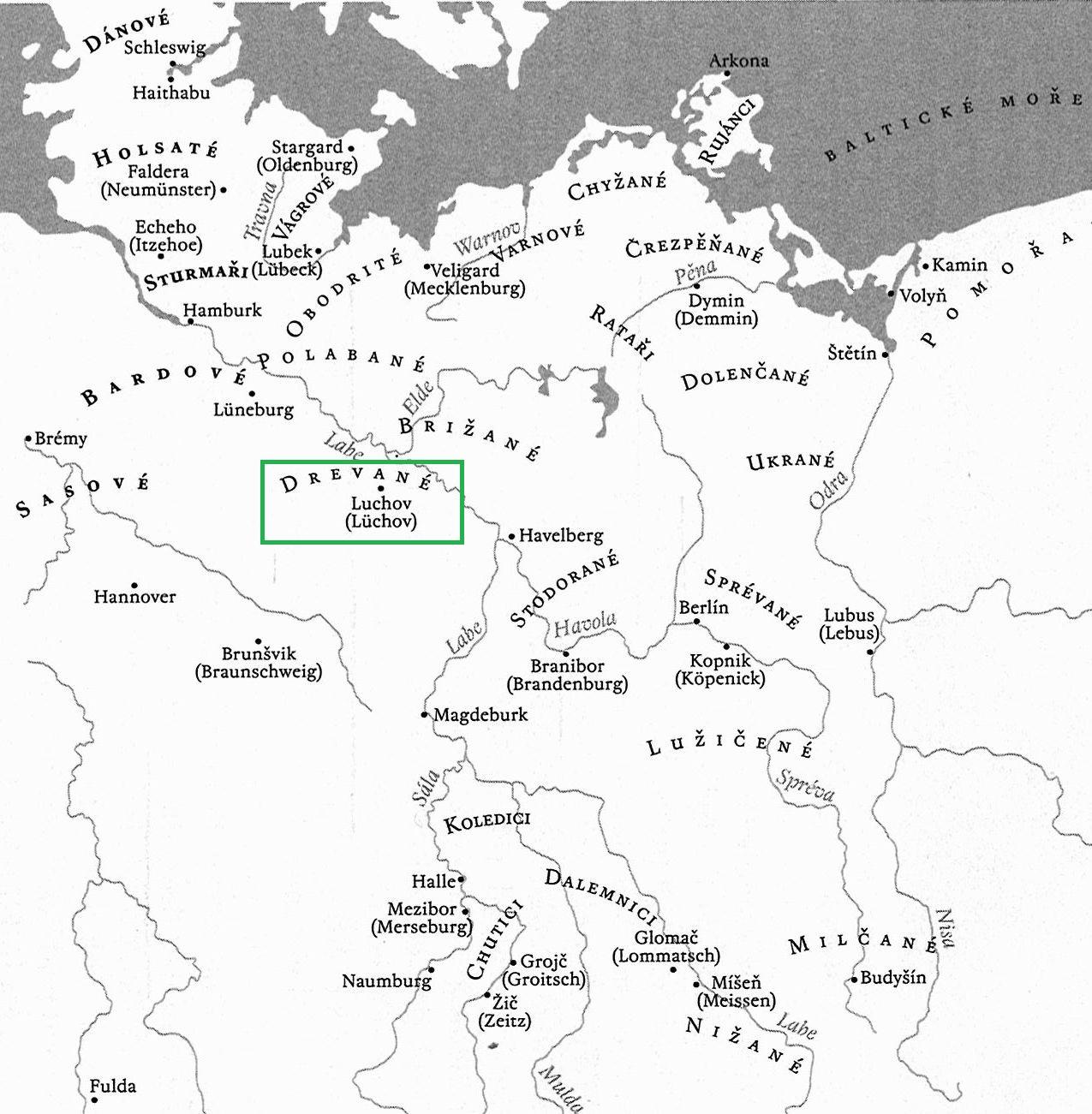 Drevané - Polabští Slované, patřili ke kmenovému svazu Obodritů, kteří obývali a ovládali severozápadní část Pobaltí, západ dněšního Meklenburska-Pomořanska.